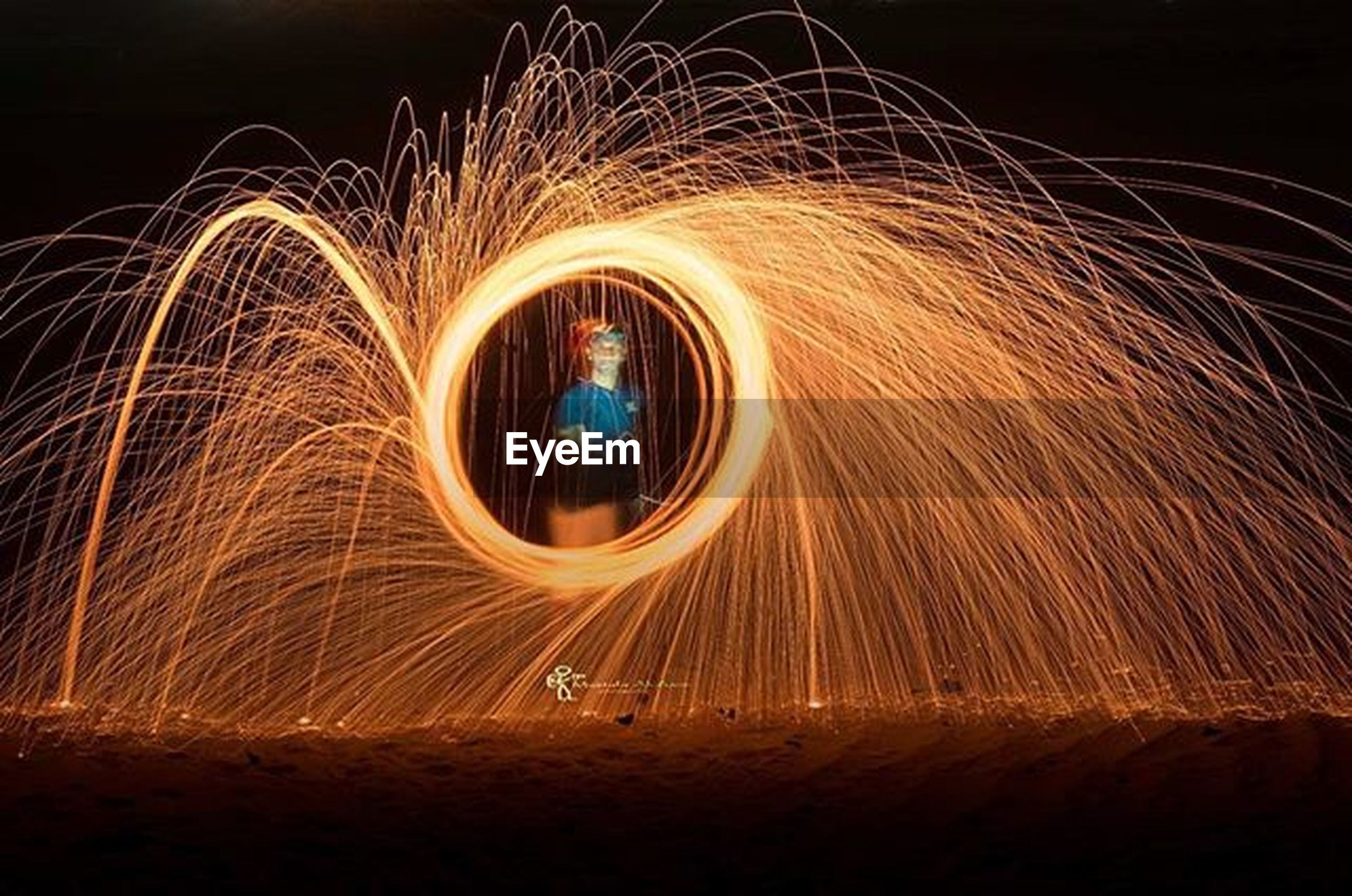 night, illuminated, long exposure, motion, blurred motion, light trail, spinning, glowing, speed, arts culture and entertainment, light painting, sparks, circle, wire wool, multi colored, event, fire - natural phenomenon, firework display