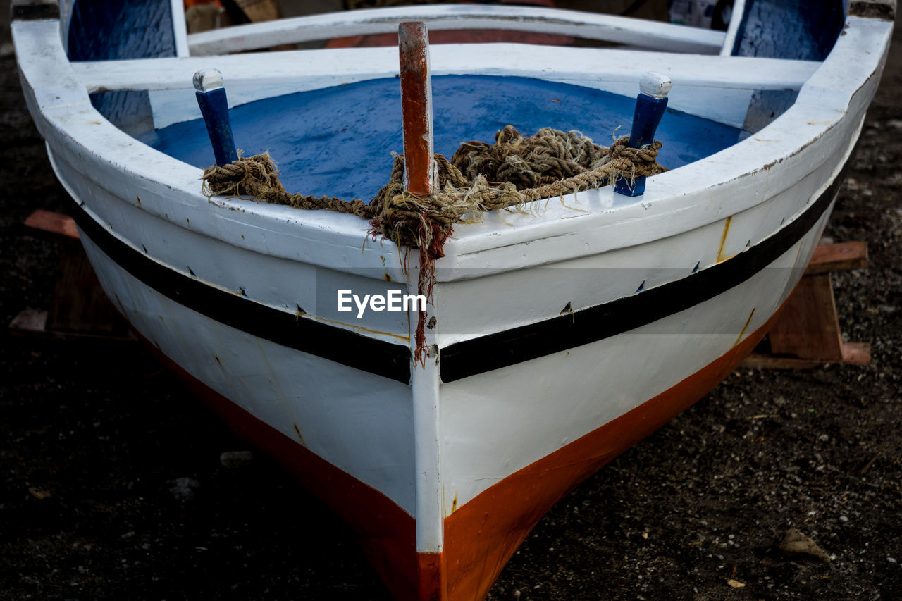 Cropped Image Of Boat Moored Harbor