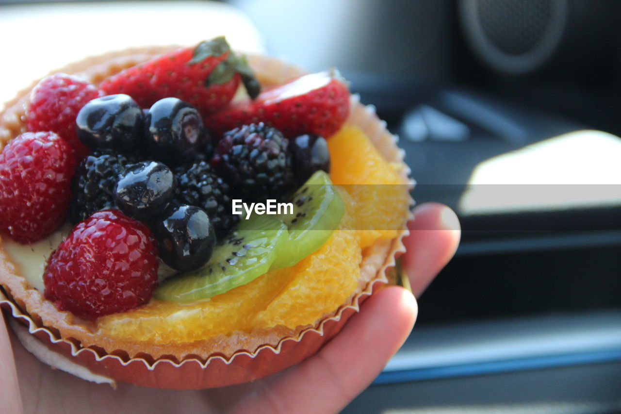 Close-Up Of Fruit Tart