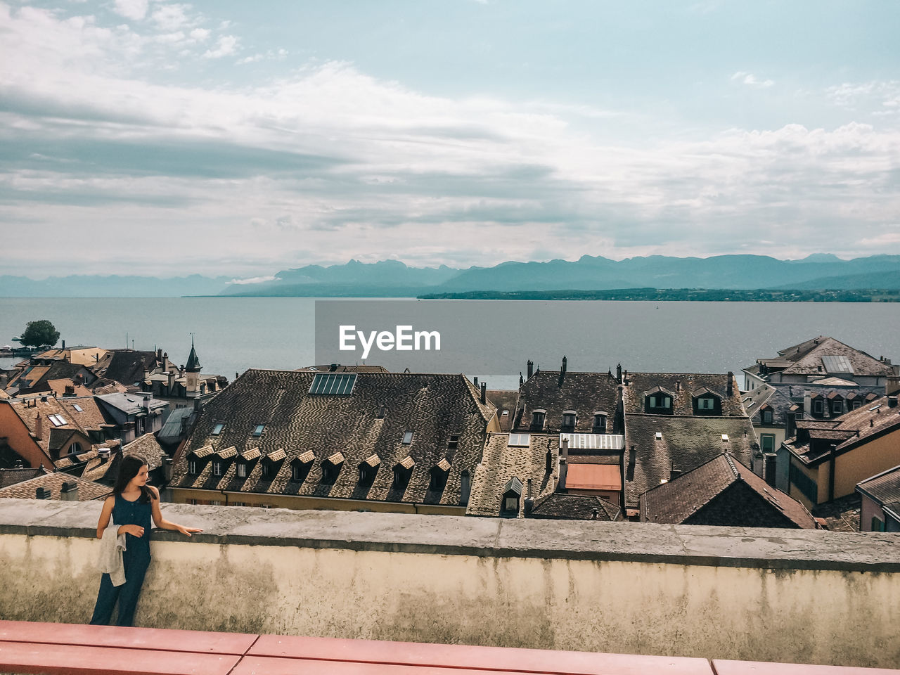 Girl Looking Away In Switzerland