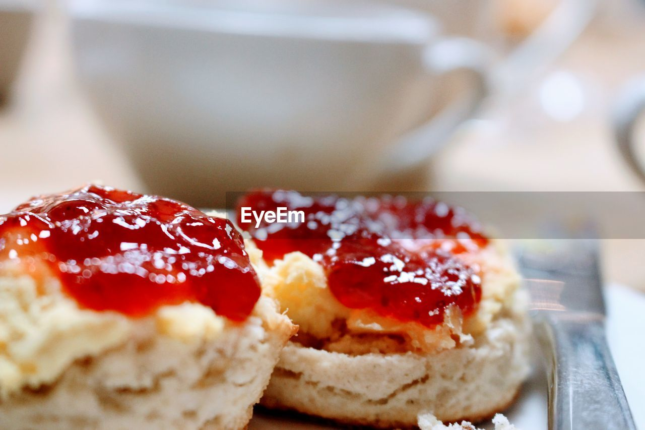 food and drink, sweet food, food, freshness, dessert, ready-to-eat, indulgence, still life, indoors, temptation, serving size, cake, unhealthy eating, fruit, plate, close-up, preserves, jam, no people, strawberry jam, dessert topping, gourmet, tart - dessert, day