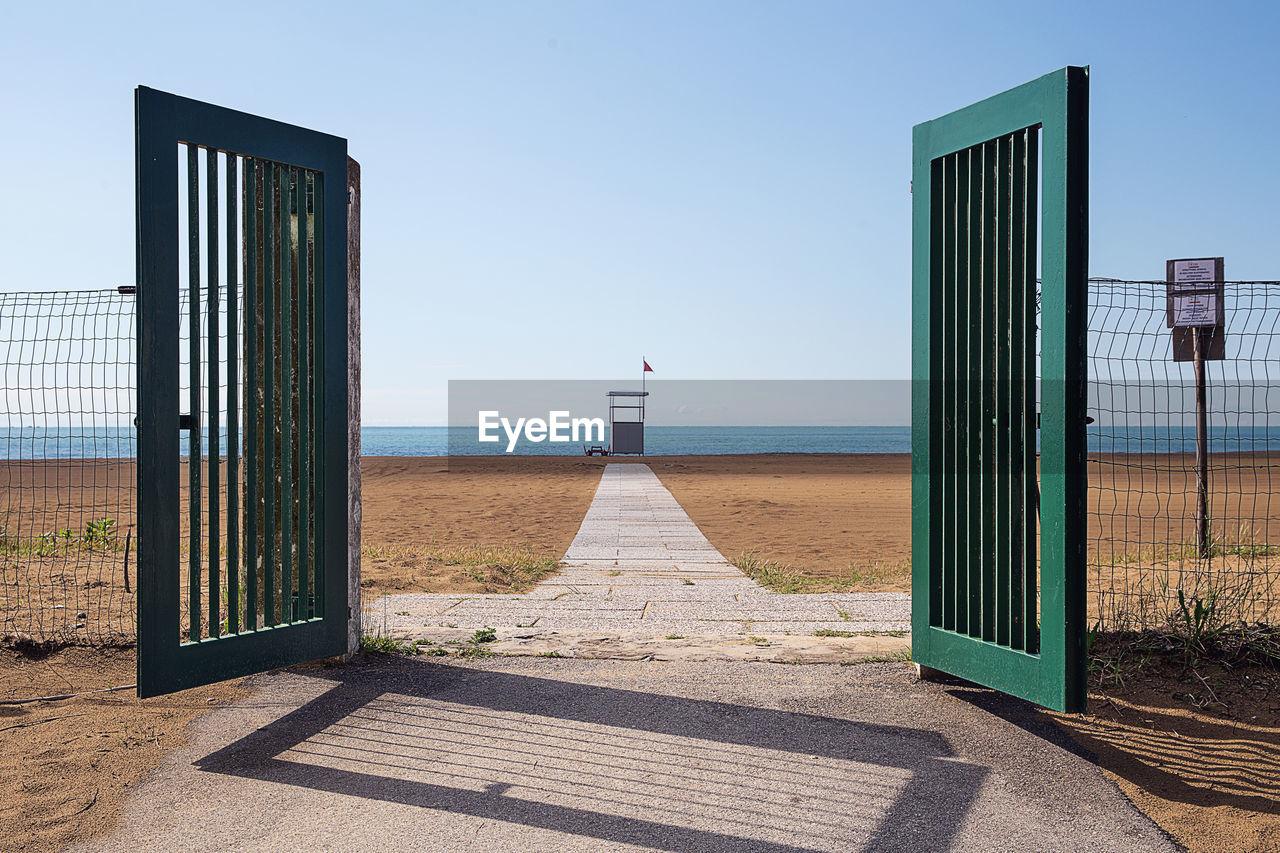 Gate Leading Towards Beach