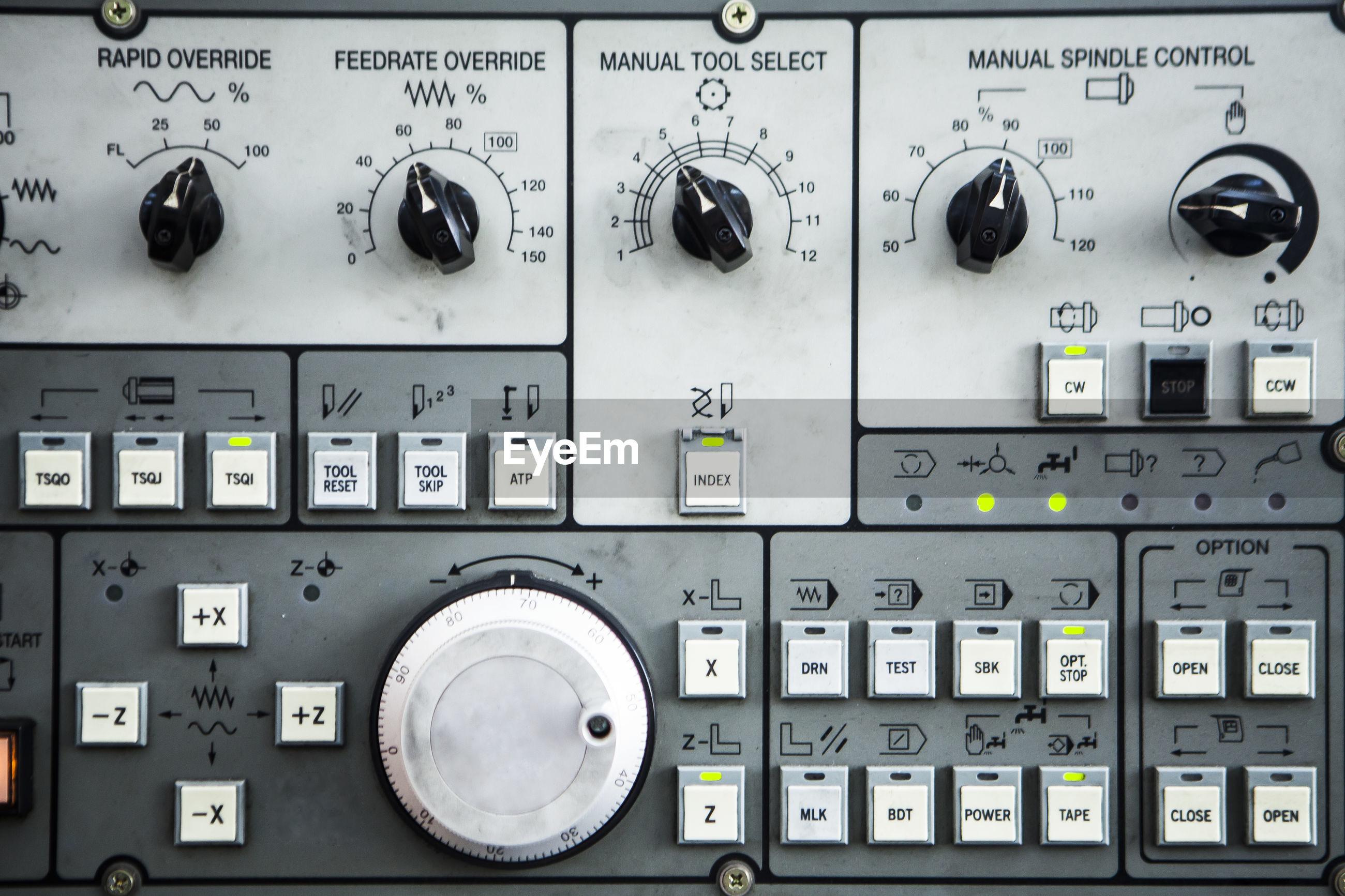 Full fame shot of electrical equipment