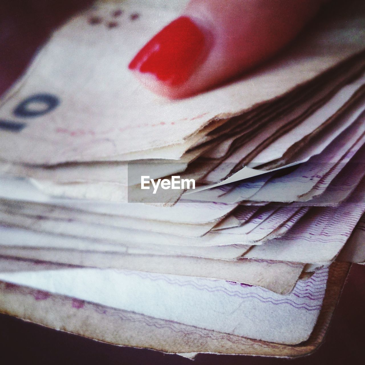 Cropped image of woman holding money