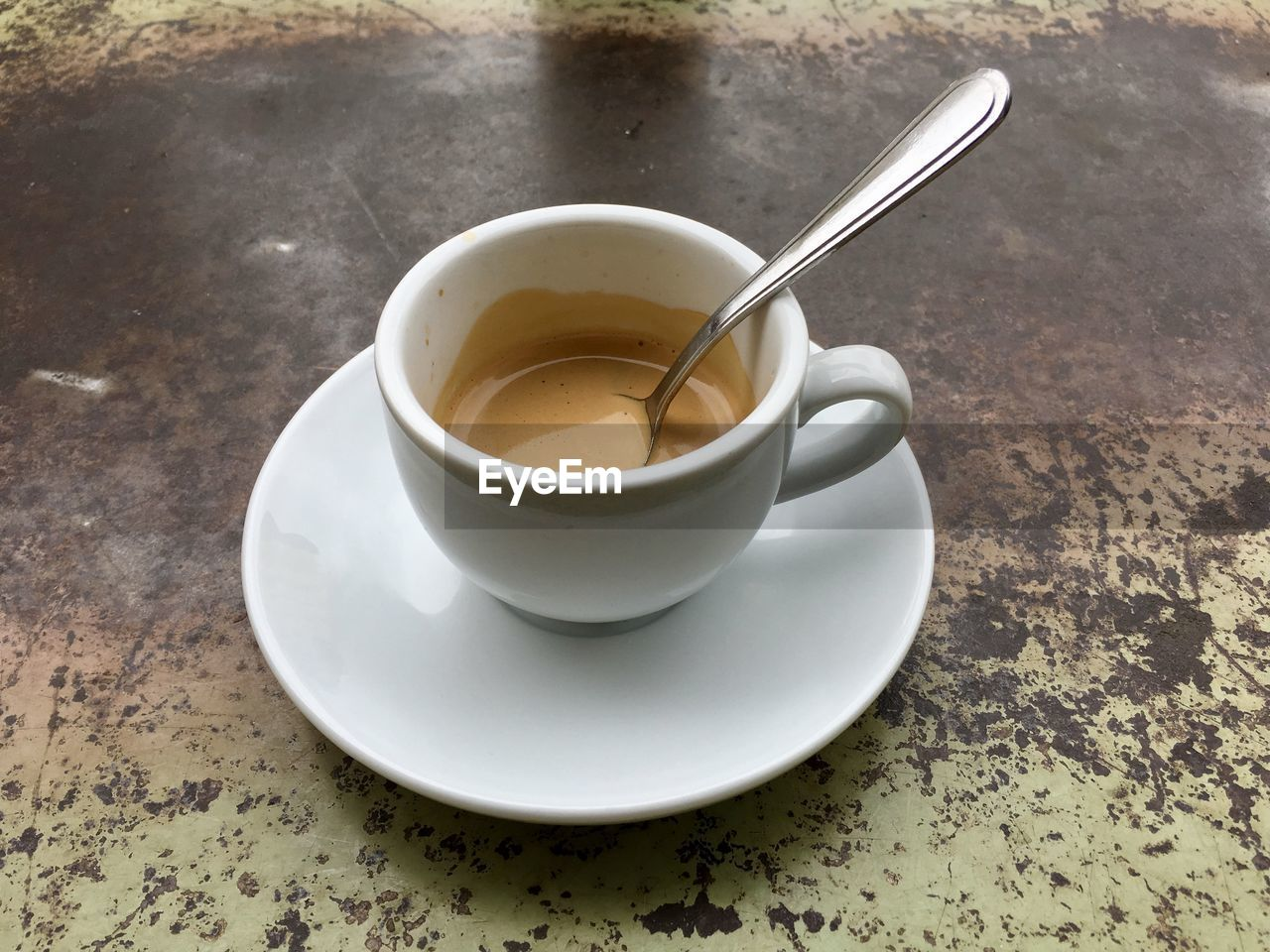 food and drink, saucer, refreshment, table, high angle view, no people, drink, freshness, indoors, close-up, day