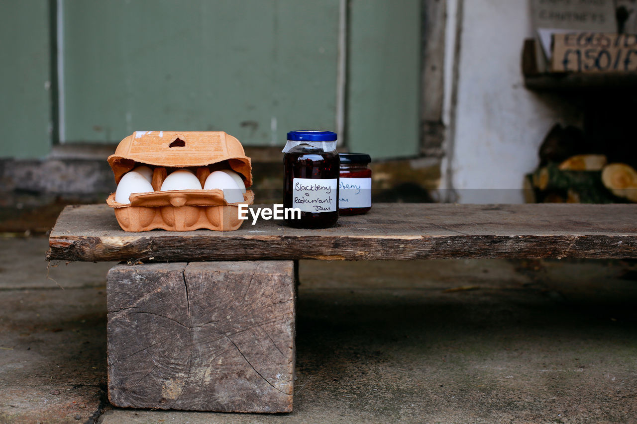 Close Up Of Eggs And Jam