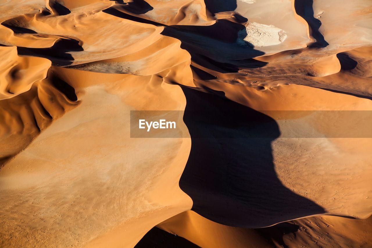 High Angle View Of Sandy Namib Desert