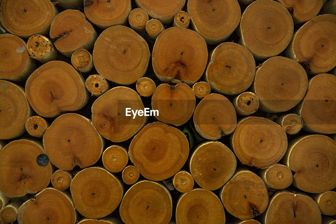 Full frame shot of timber