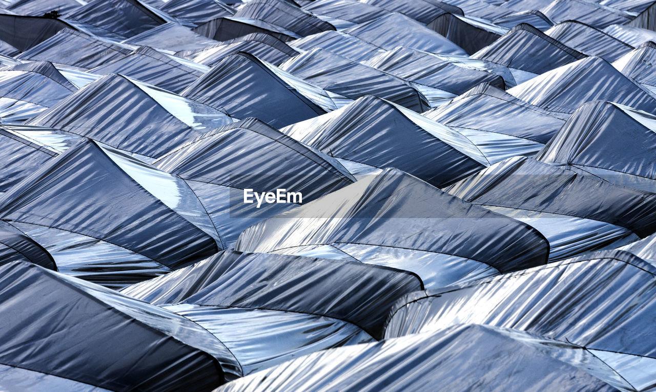 Full frame shot of tents