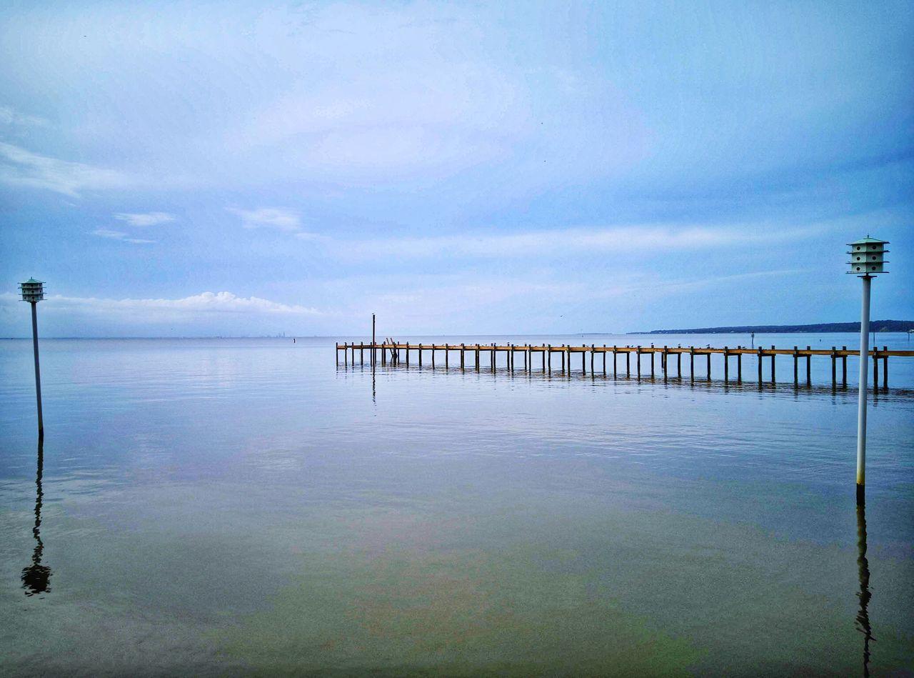 Pier On Sea Against Sky