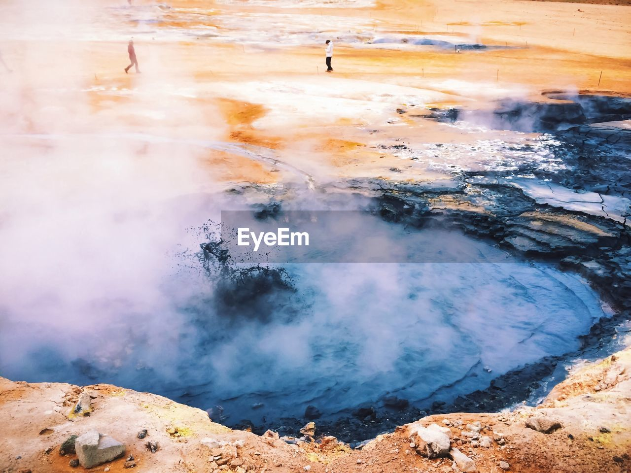 geology, steam, physical geography, heat - temperature, smoke - physical structure, hot spring, power in nature, water, geyser, beauty in nature, day, nature, non-urban scene, landscape, scenics - nature, land, travel, incidental people, tourism, outdoors