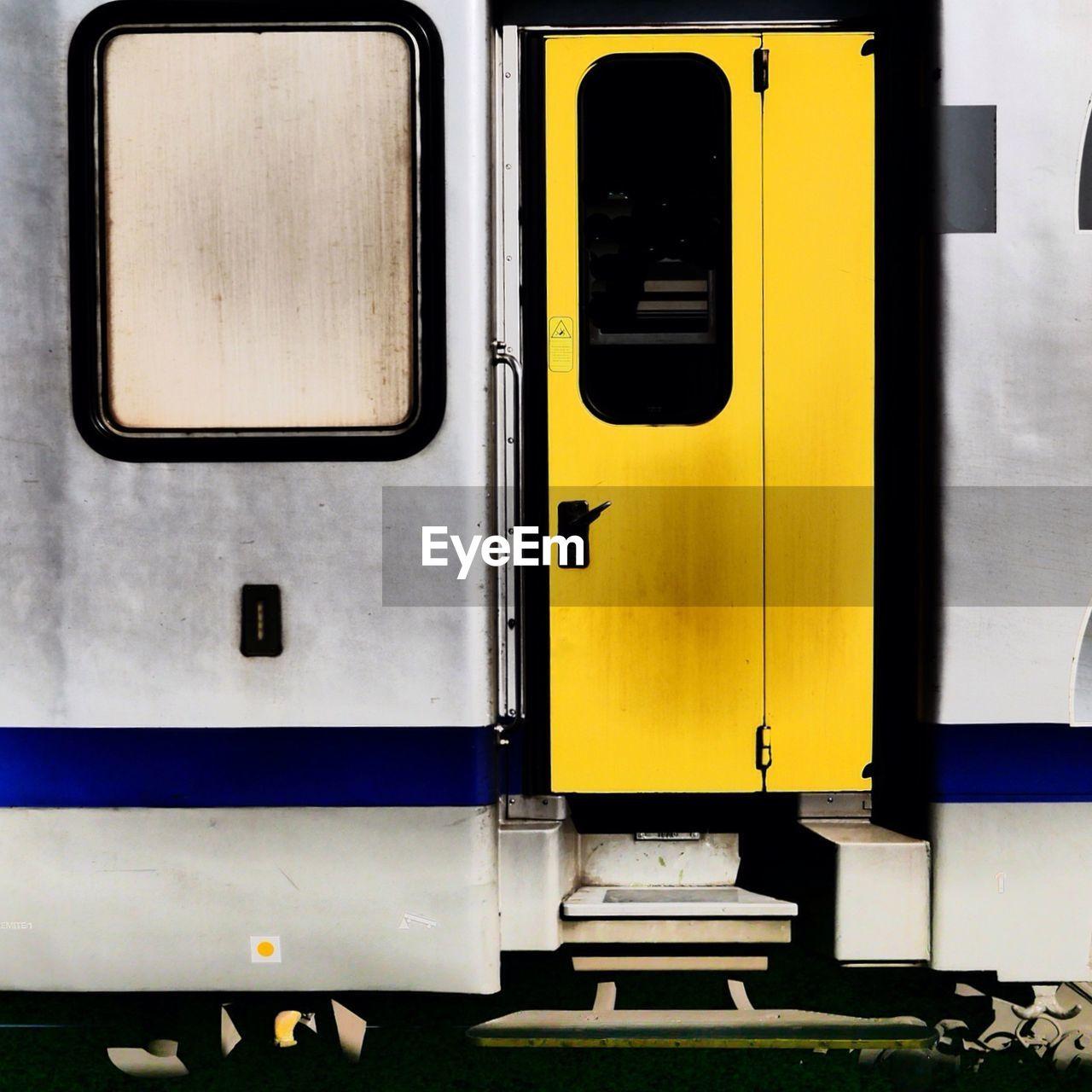 Yellow Door On Train