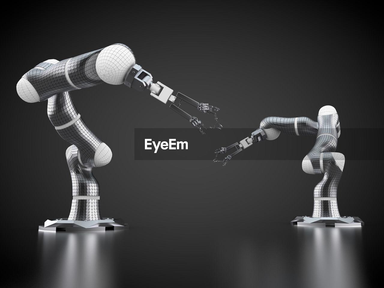 Robots On Black Background