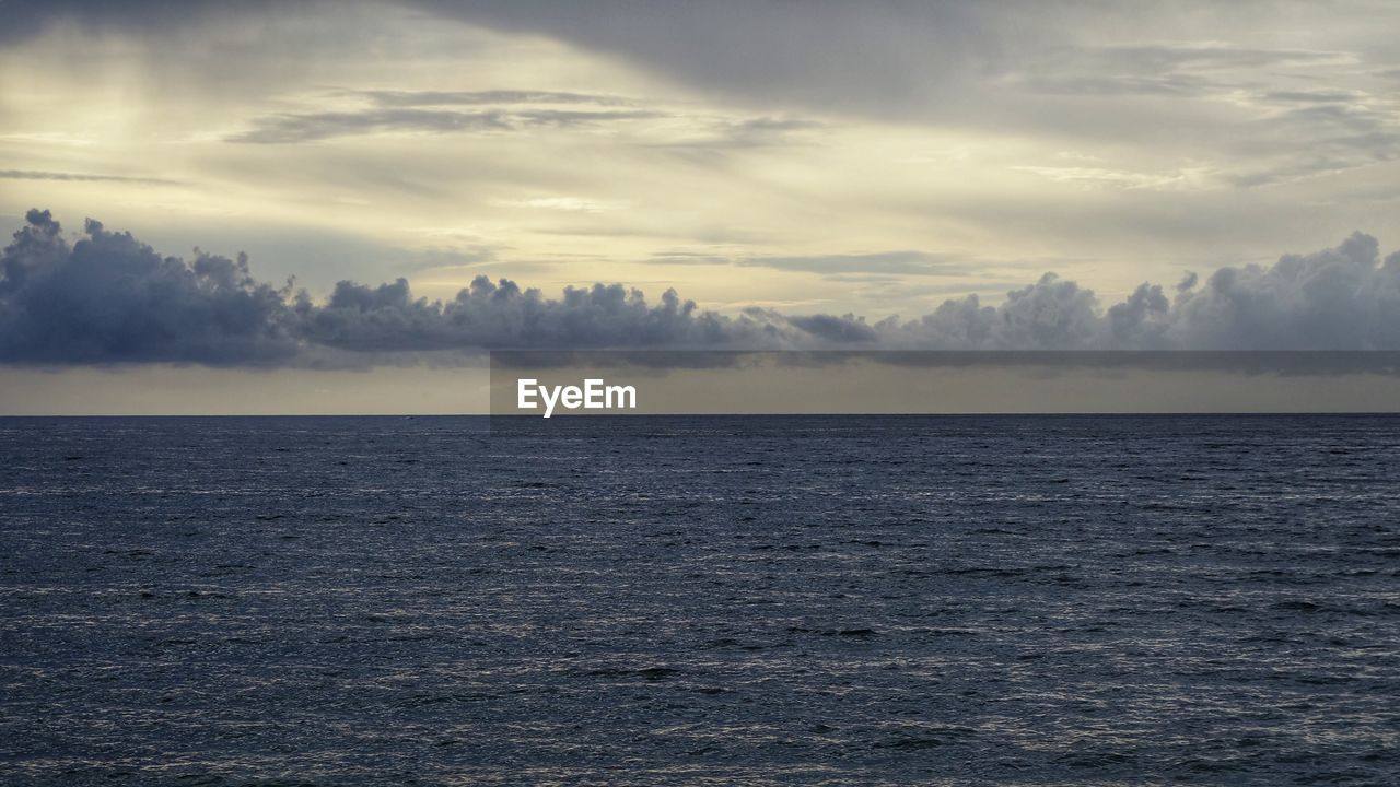 VIEW OF SEASCAPE AGAINST SKY