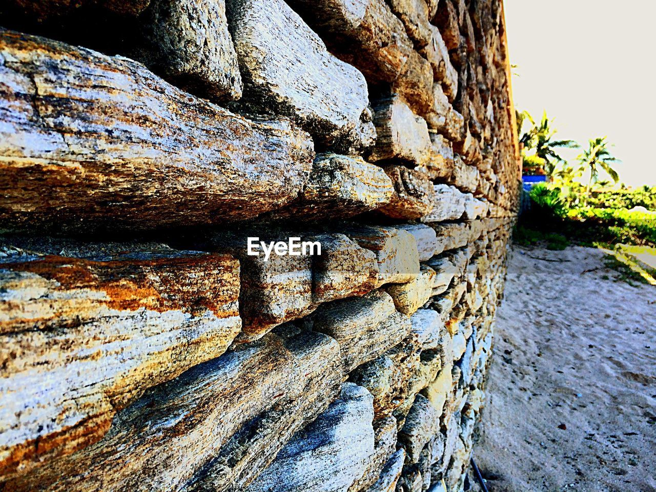 Close-up of stoned wall