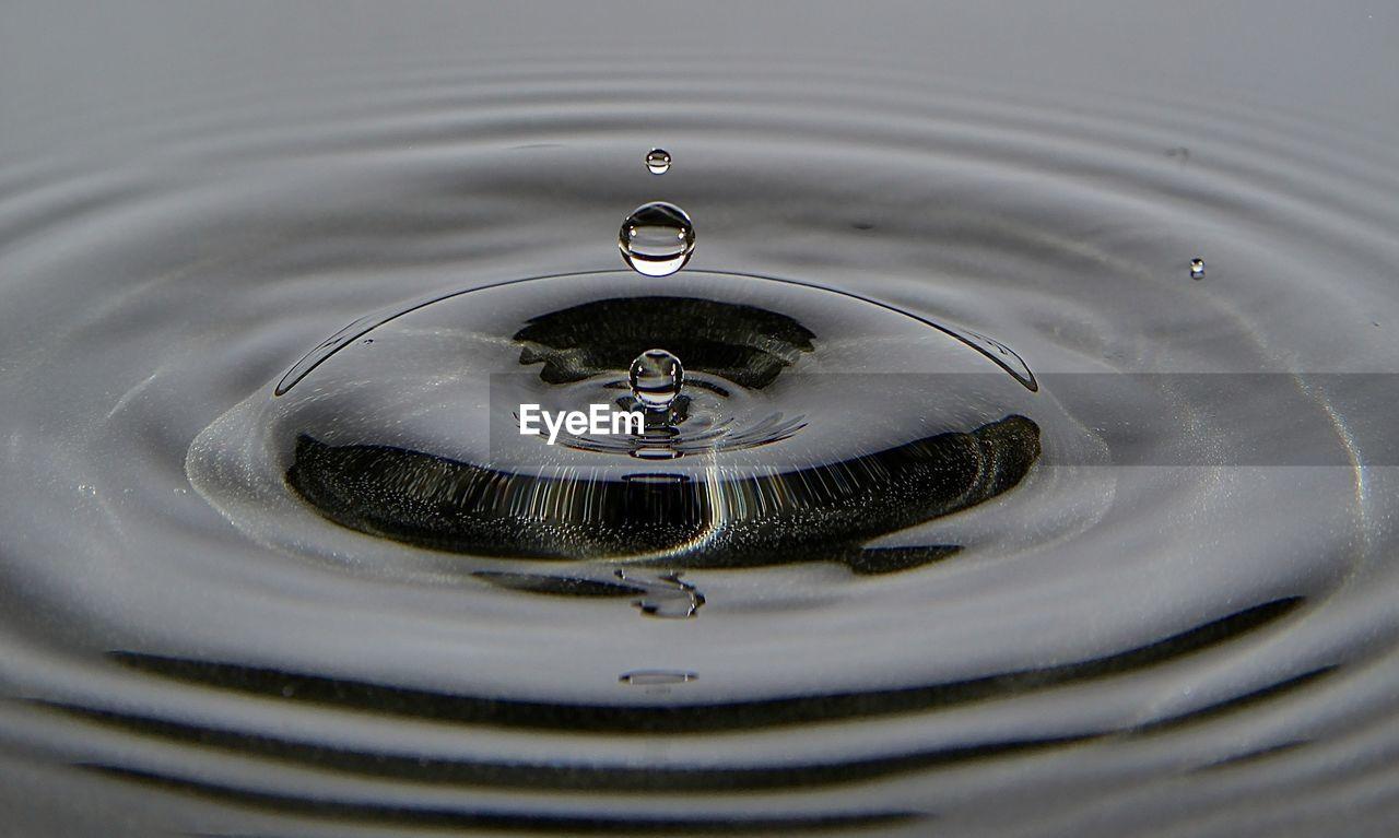 Close-Up Of Splashing Droplet On Water