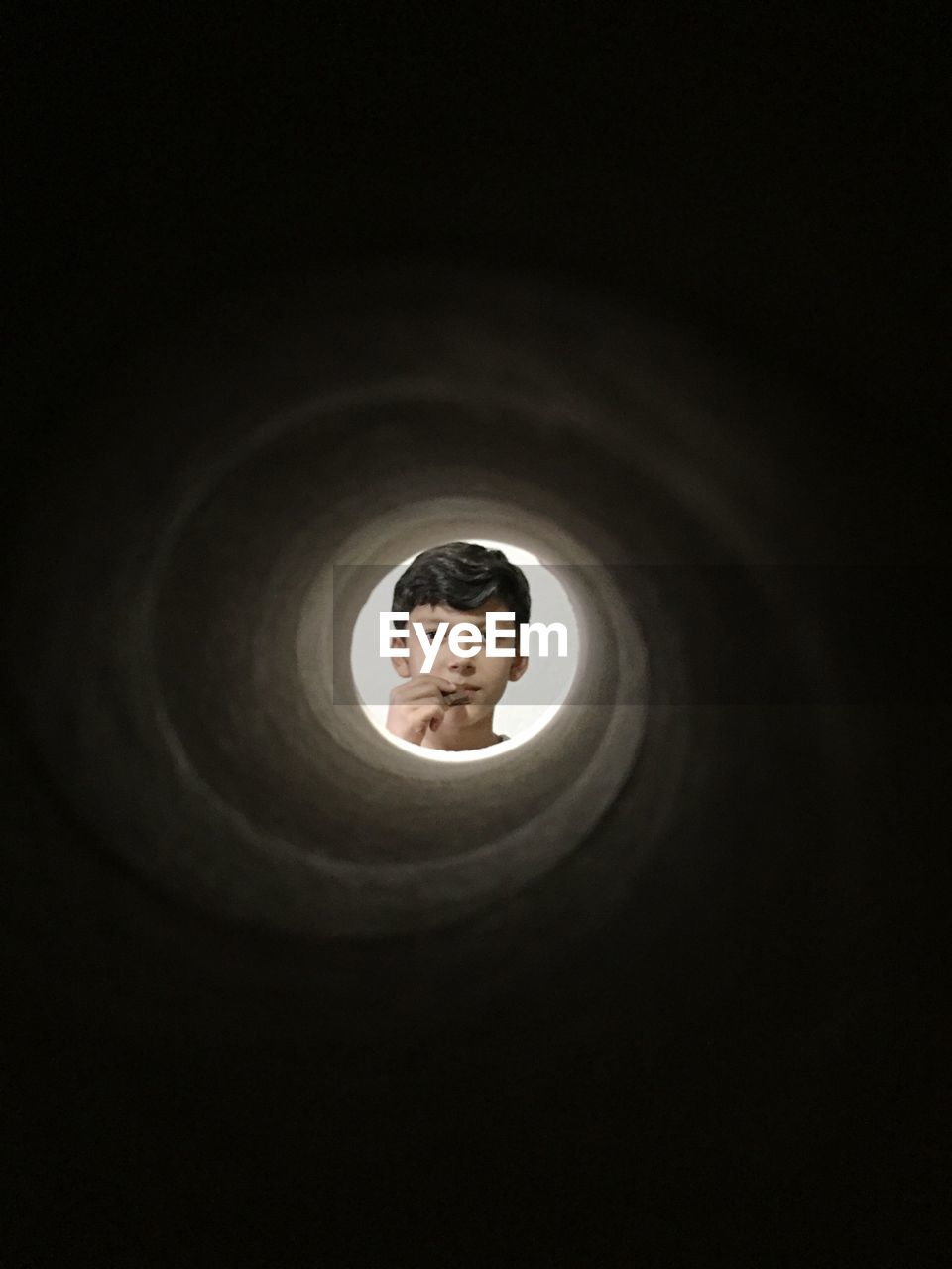 Boy At The End Of A Tunnel