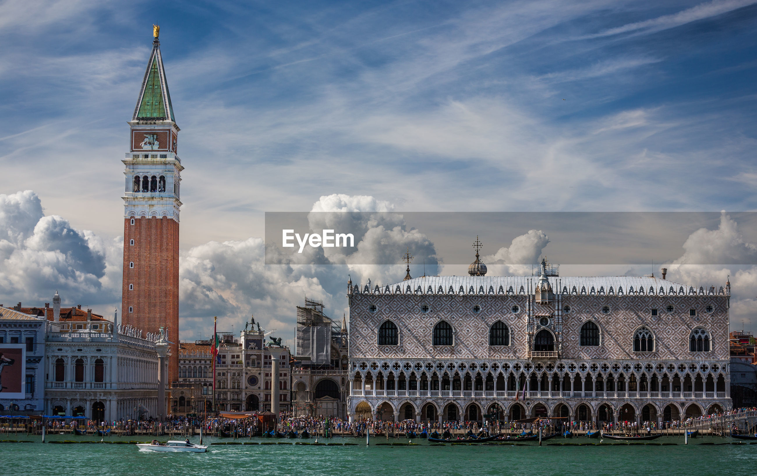 View of st mark square against cloudy sky