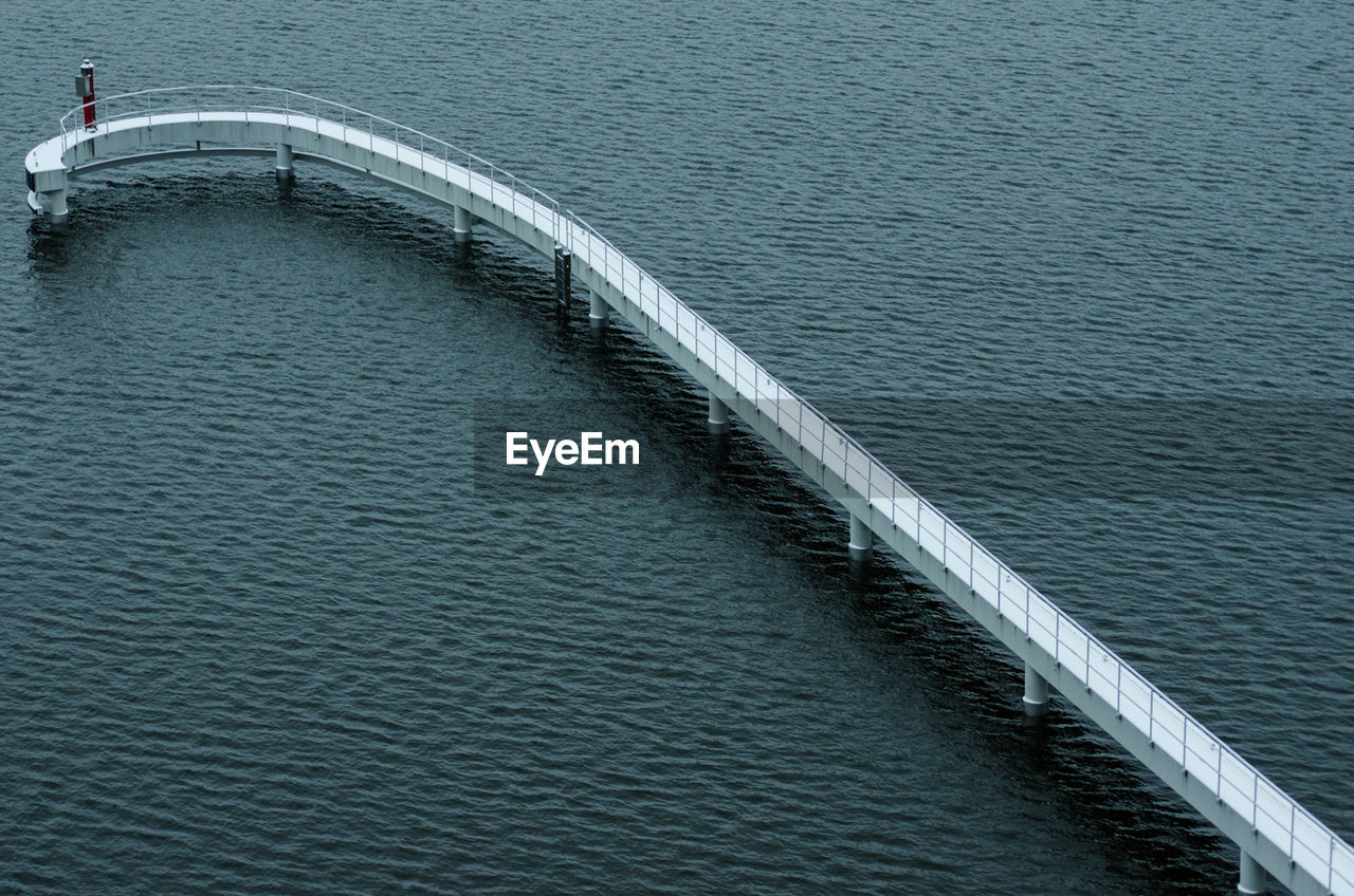 High Angle View Of Pier Over Sea