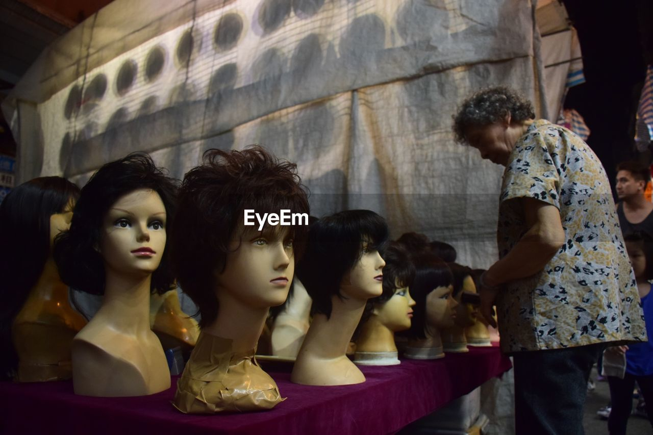 human representation, store, retail, mannequin, female likeness, retail display, fashion, for sale, indoors, day, no people, statue, close-up