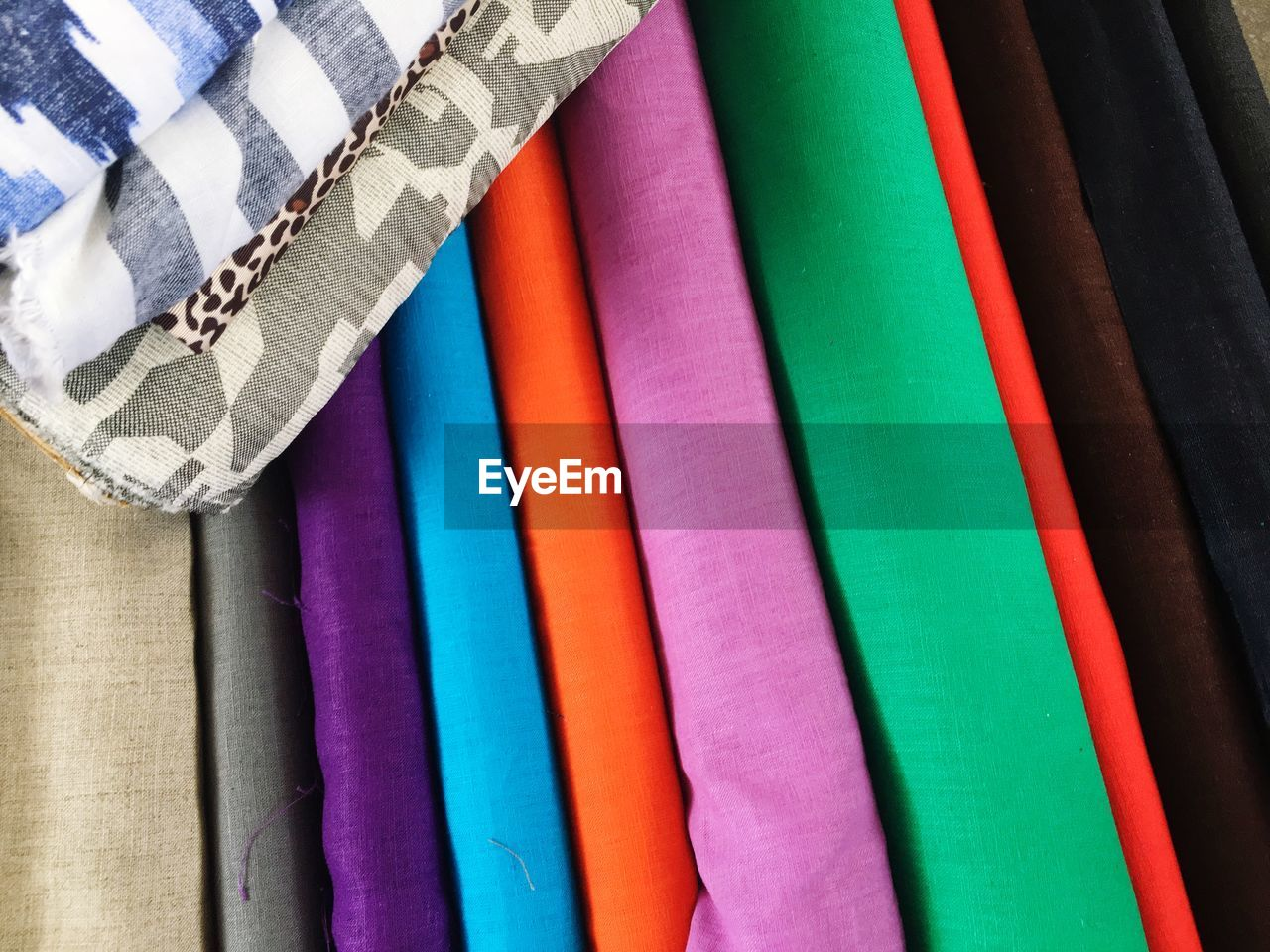 Full frame shot of colorful fabrics