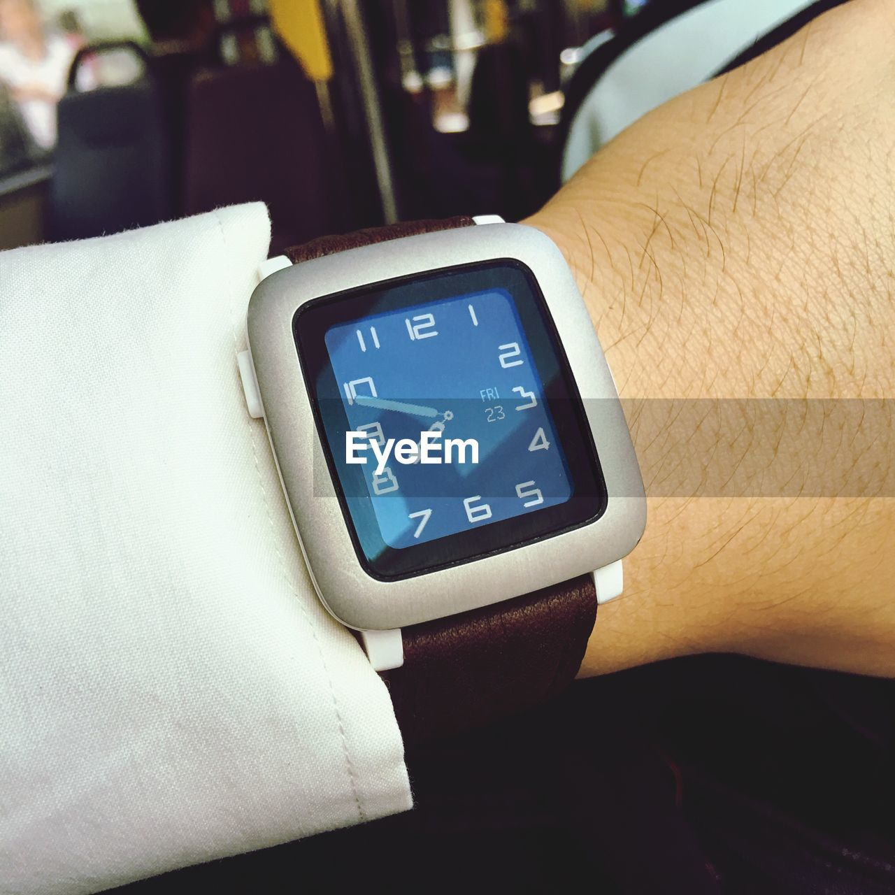 digital display, technology, human hand, hand, human body part, real people, one person, number, close-up, time, communication, indoors, body part, healthcare and medicine, lifestyles, unrecognizable person, wearable computer, wristwatch, finger, pulse trace