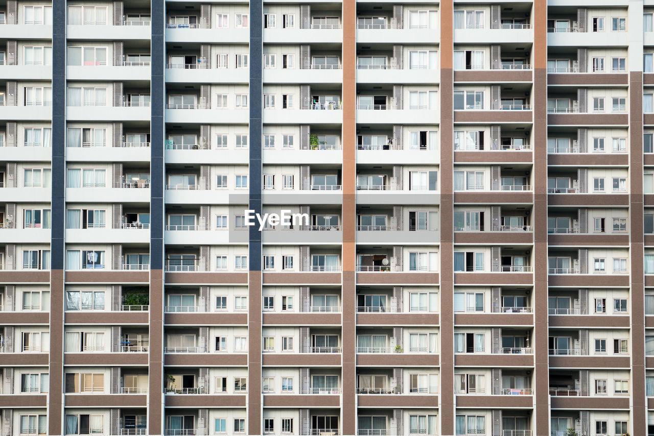 Full Frame Shot Of Apartment Building Facade