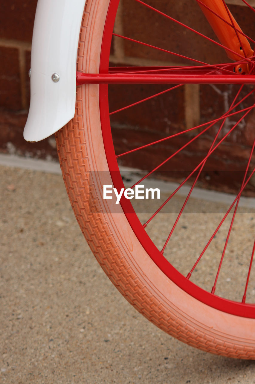 Cropped Image Of Bicycle Wheel