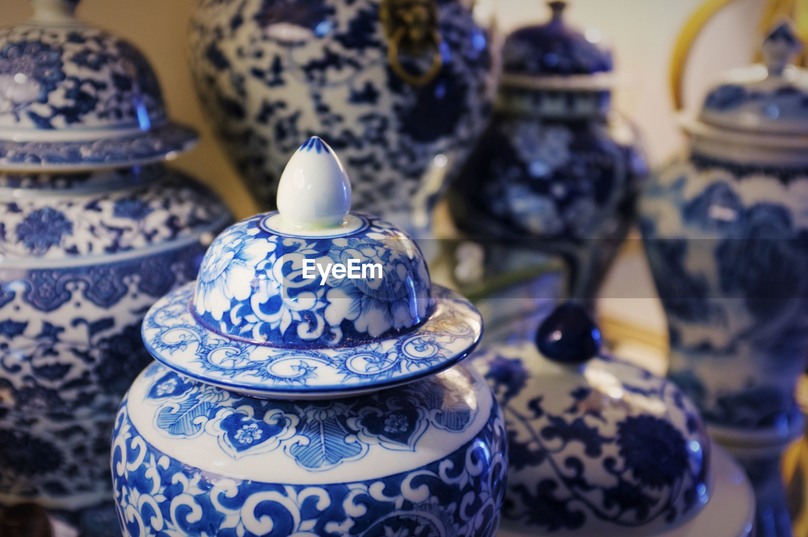 Close up of ceramic chinaware