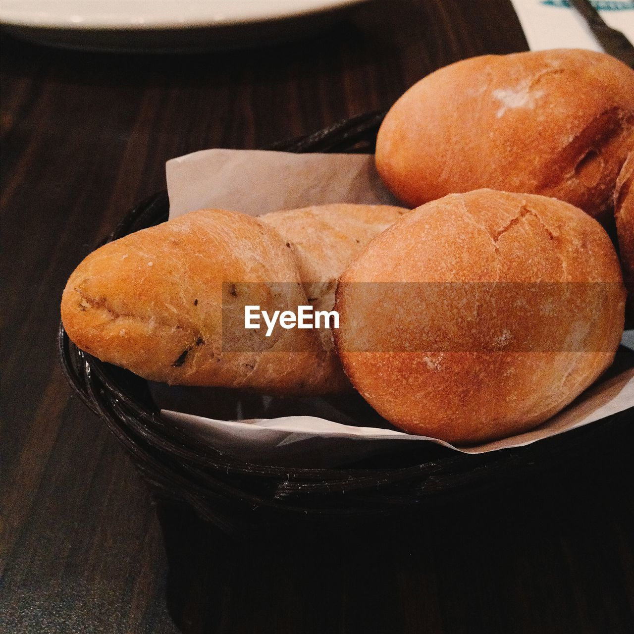 Close-up Of Breads In Basket