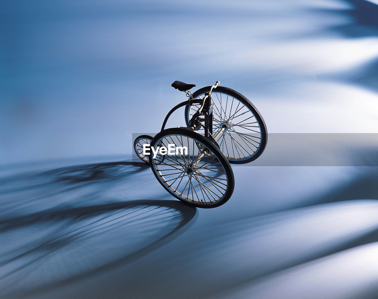 High Angle View Of Bicycle On Flooring