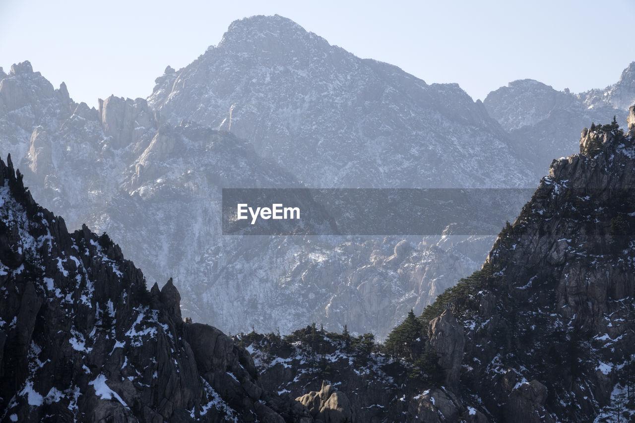 Mountains At Seoraksan National Park During Winter