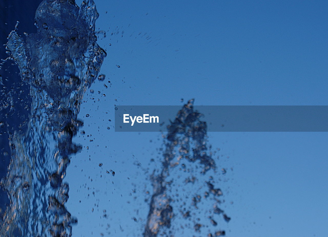 water, no people, drop, close-up, nature, blue, day, outdoors, beauty in nature, sky, freshness