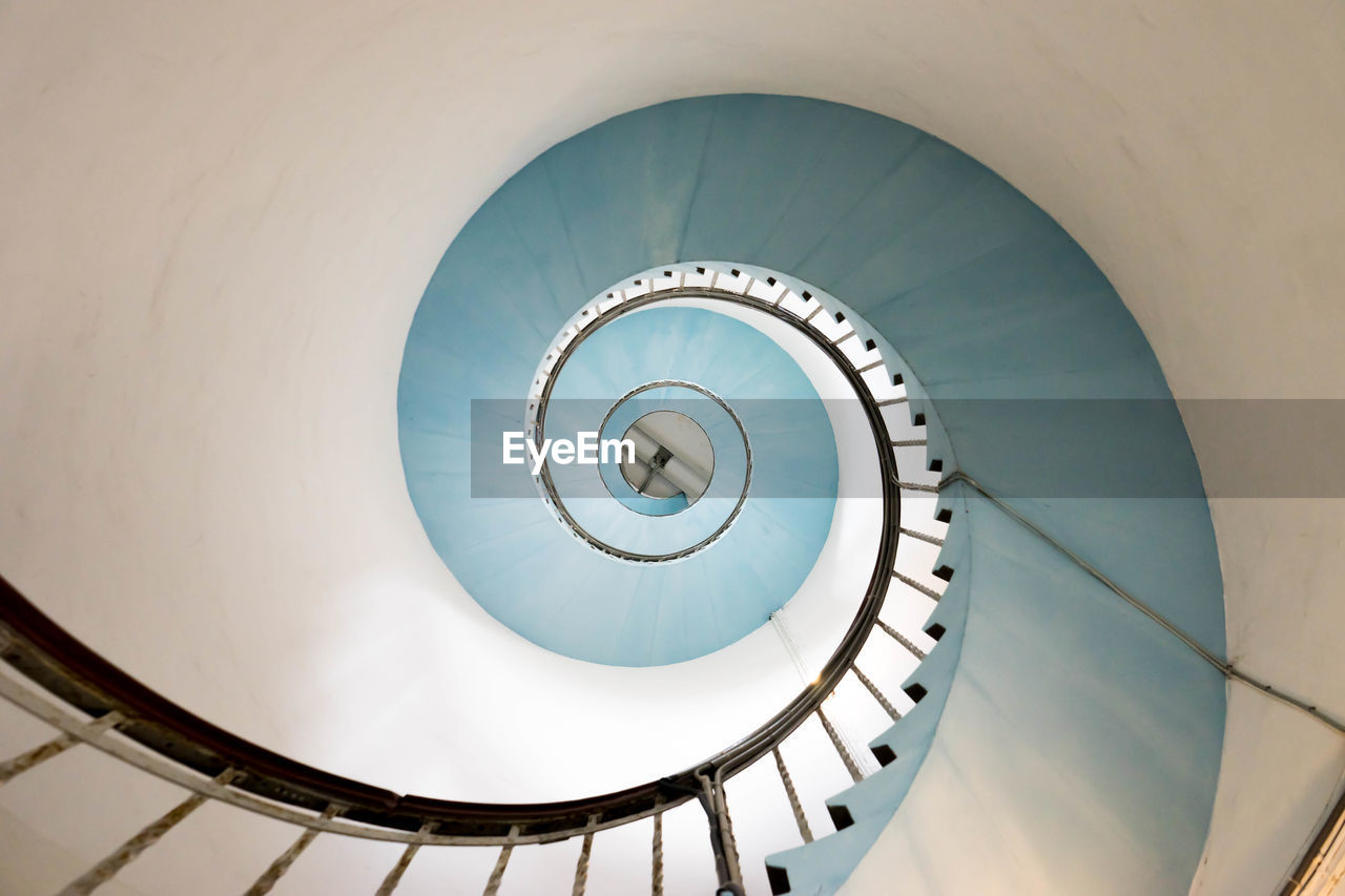 Directly Below Shot Of Spiral Staircase