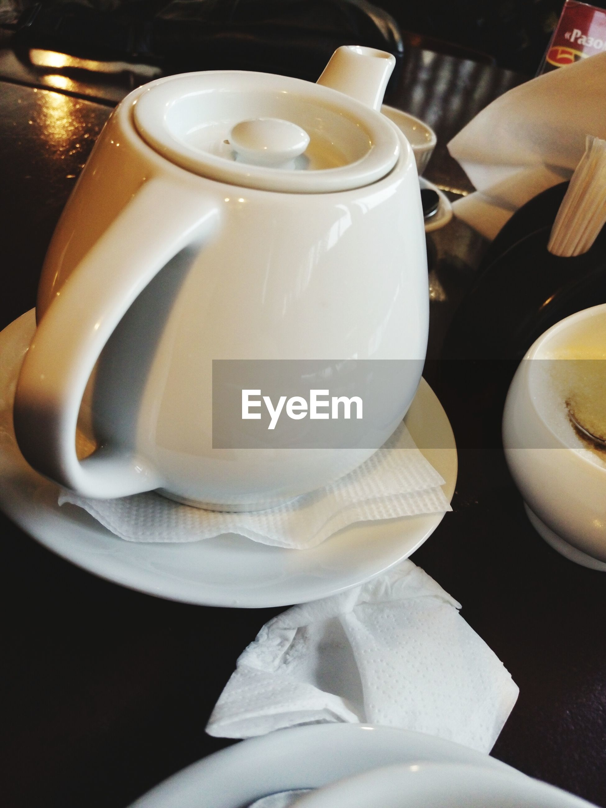 indoors, food and drink, still life, table, freshness, coffee cup, close-up, high angle view, drink, refreshment, plate, spoon, coffee - drink, white color, saucer, food, cup, no people, coffee, focus on foreground