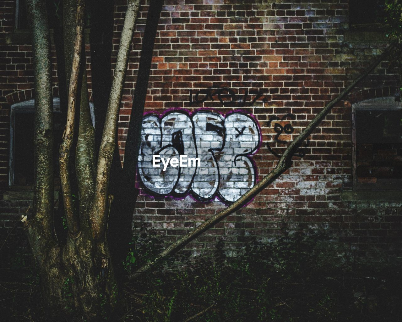 graffiti, art and craft, brick wall, text, love, communication, no people, day, outdoors, architecture, building exterior, close-up