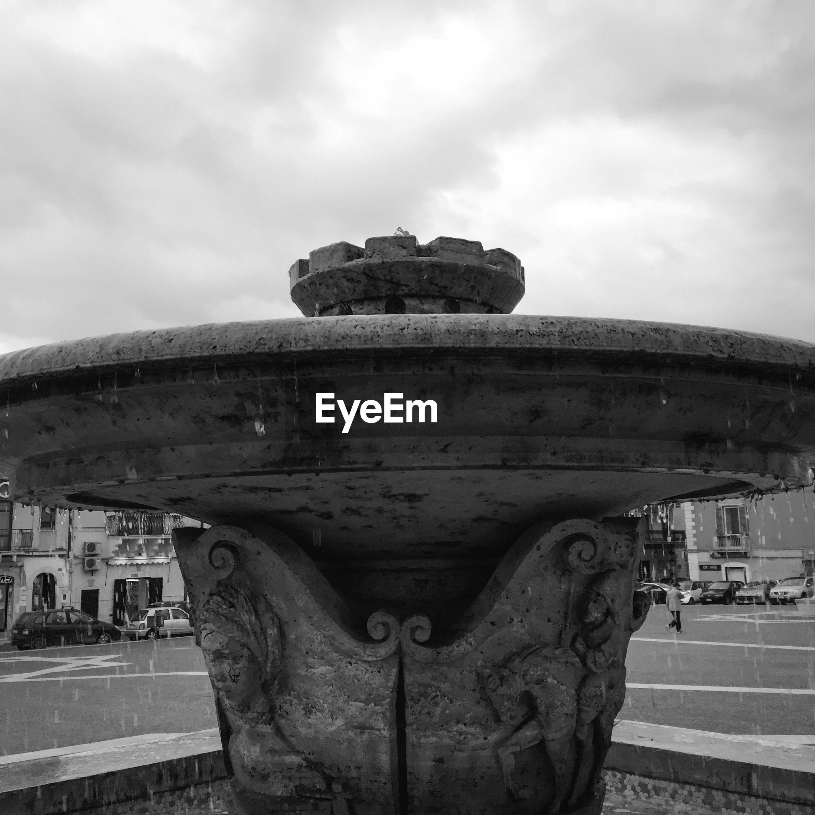 Fountain at town square