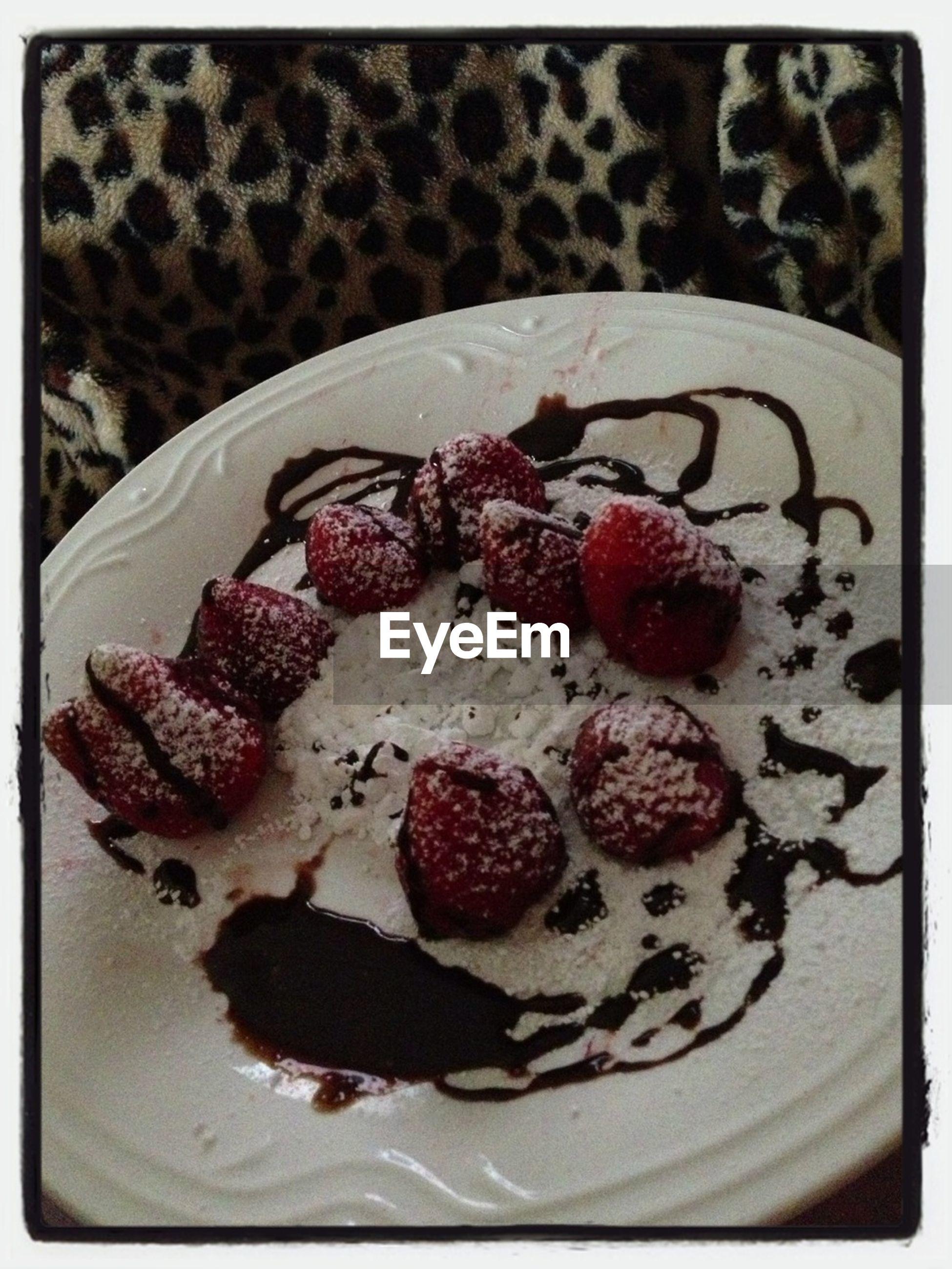 food and drink, food, sweet food, freshness, dessert, indoors, indulgence, ready-to-eat, unhealthy eating, still life, cake, strawberry, temptation, fruit, close-up, plate, table, chocolate, transfer print, high angle view