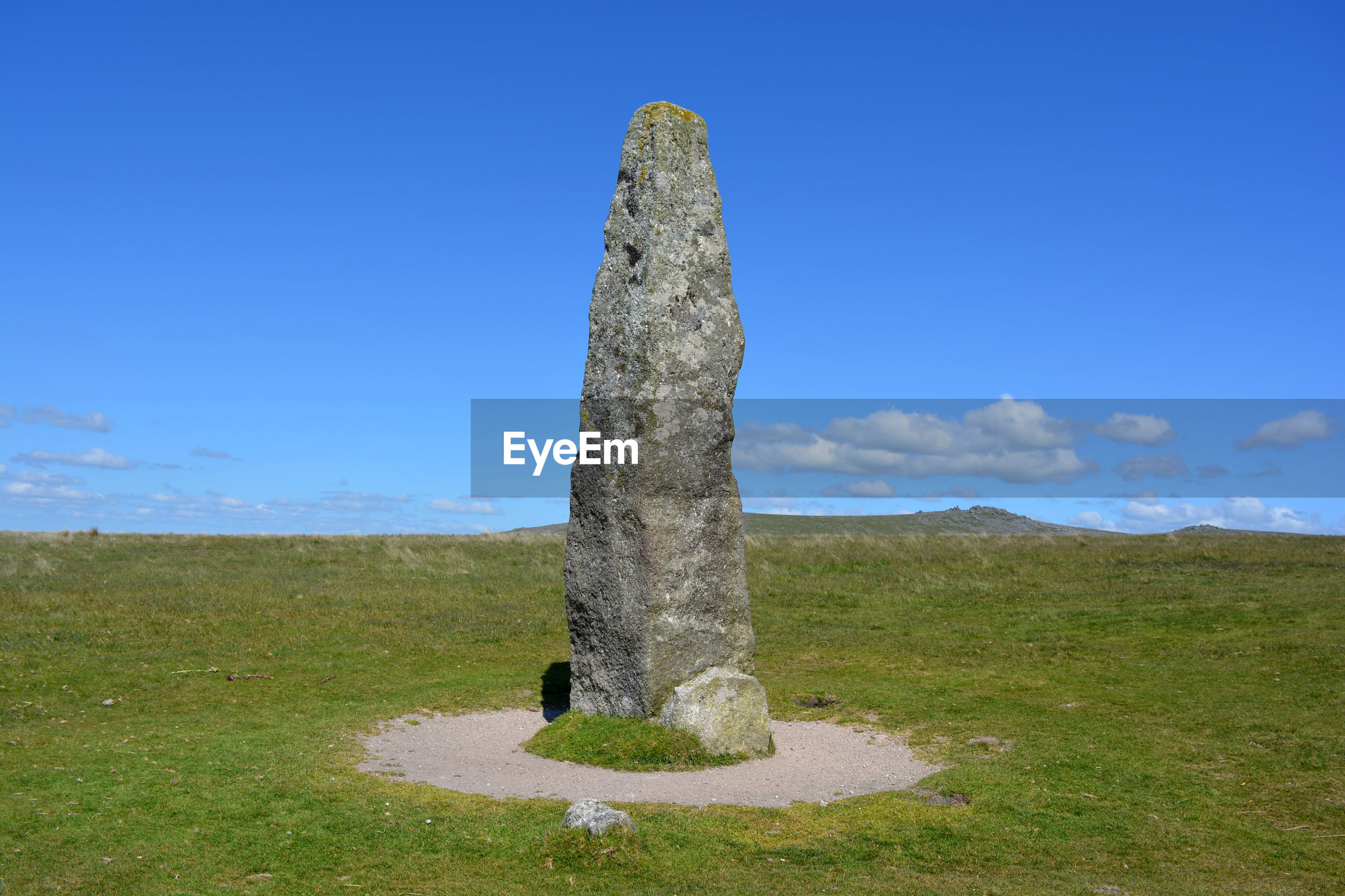 STONE STRUCTURE ON FIELD