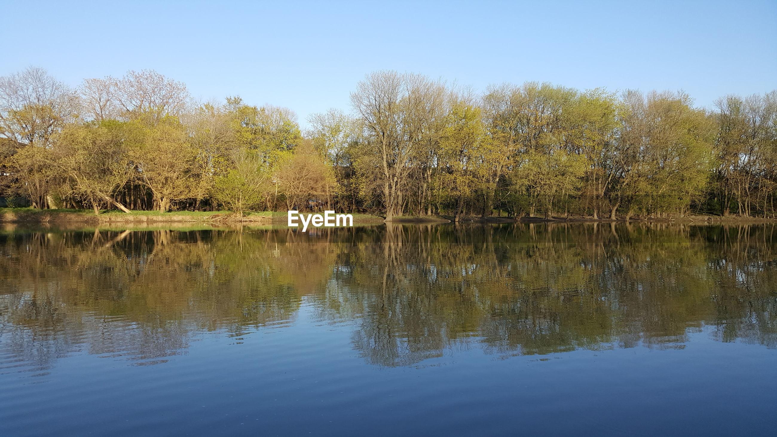 SCENIC VIEW OF CALM LAKE