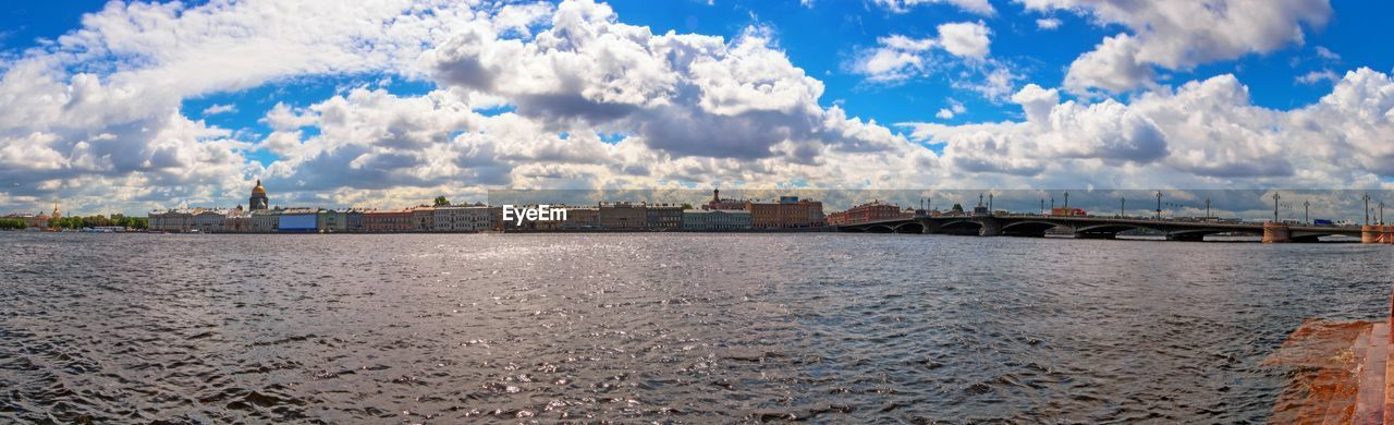 cloud - sky, sky, water, architecture, built structure, building exterior, nature, no people, sea, day, land, building, waterfront, city, outdoors, beach, scenics - nature, panoramic, transportation