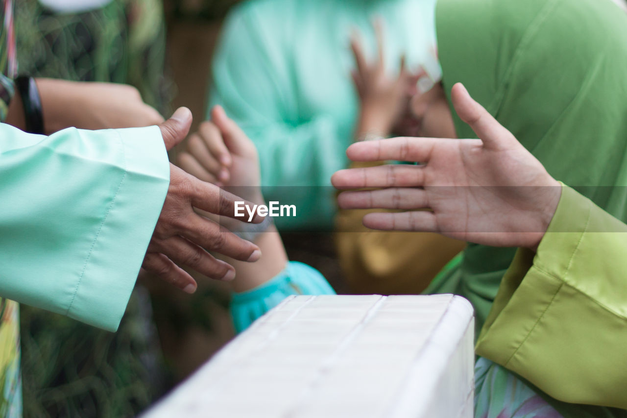 People during religious celebration
