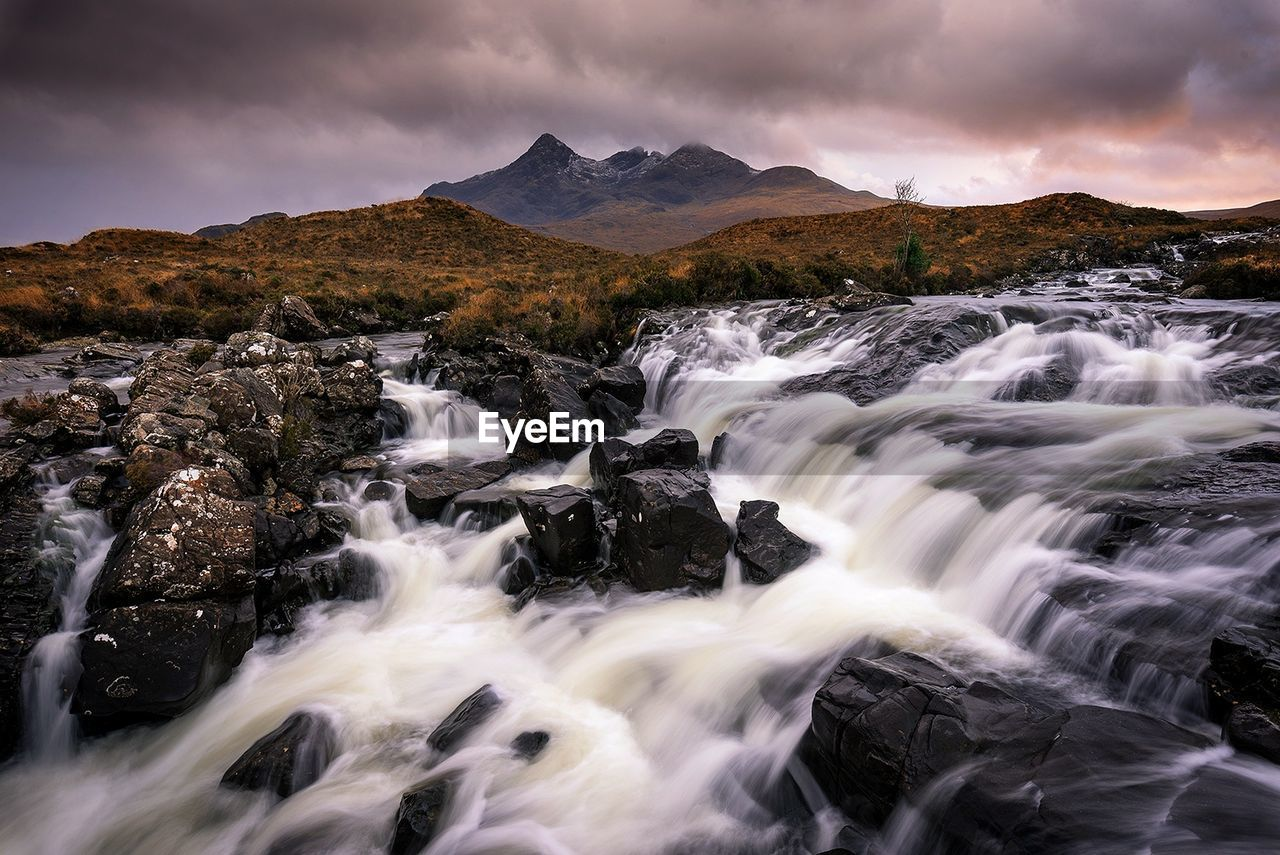 Waterfall Over Landscape