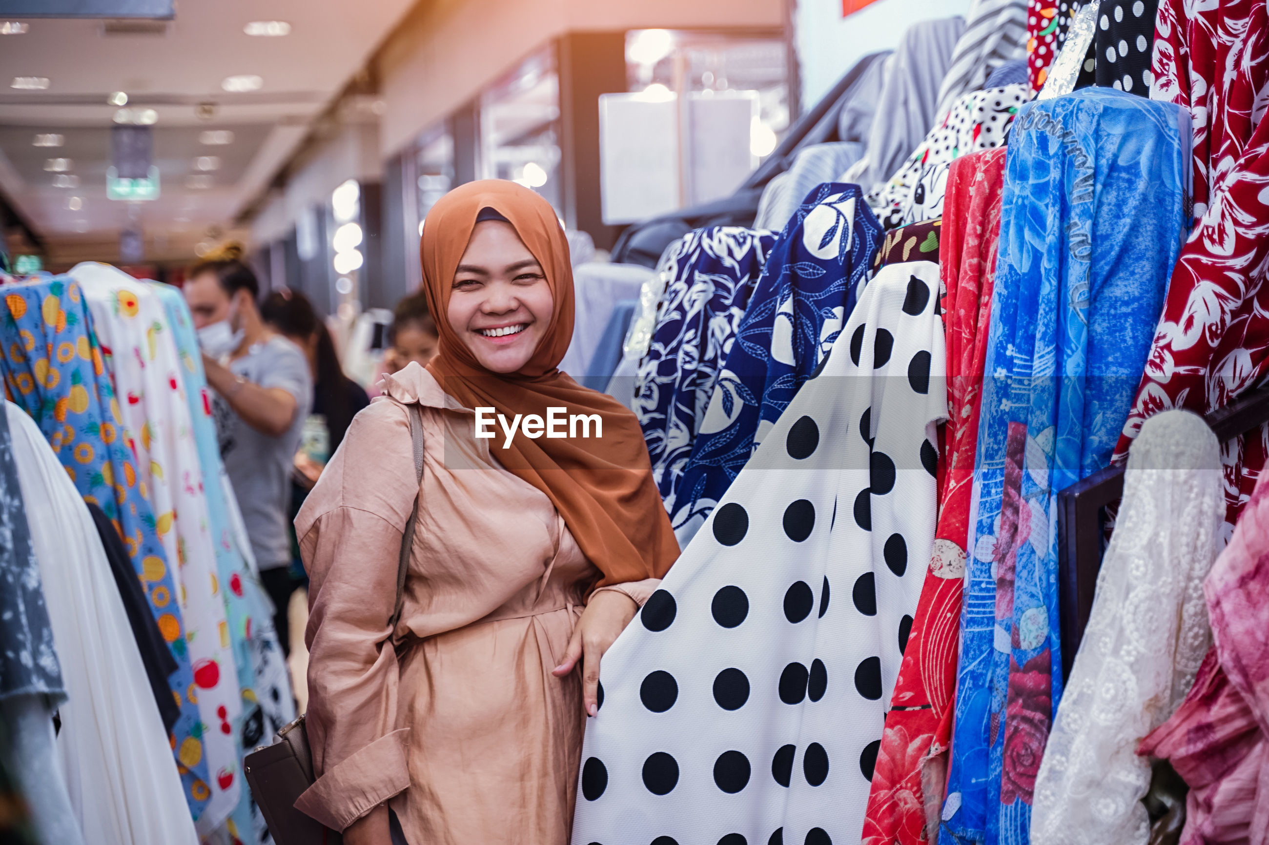 Woman shopping in store