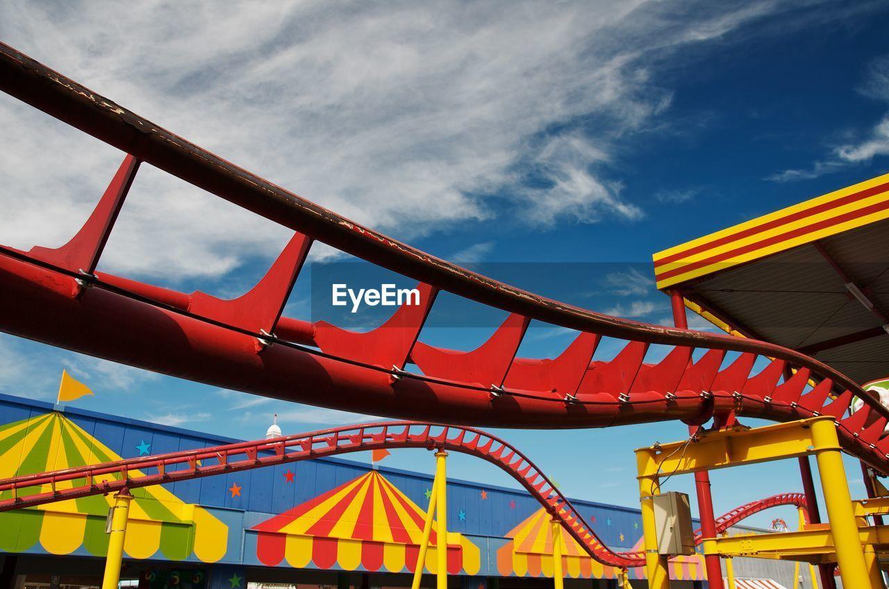 Close-Up Of Roller Coaster At Amusement Park