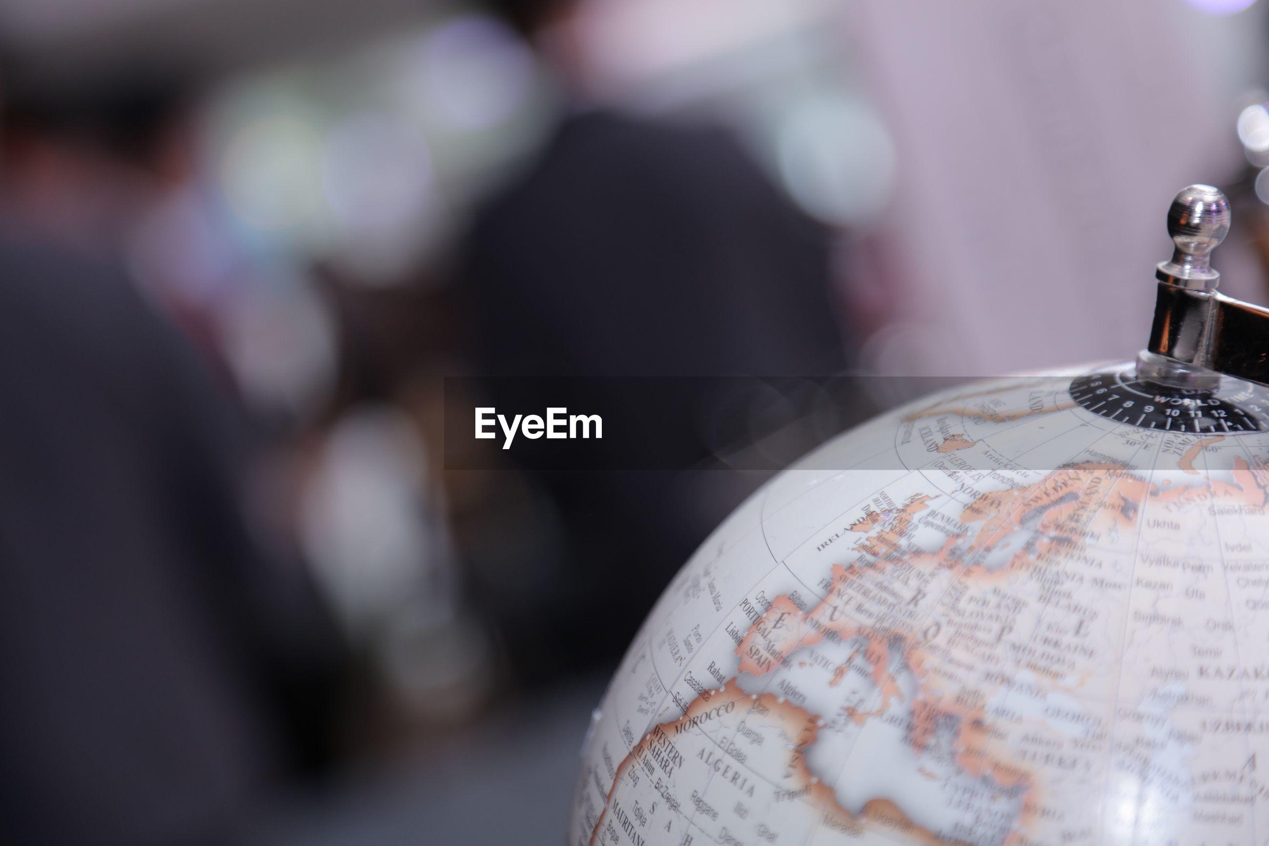 Close-up of globe