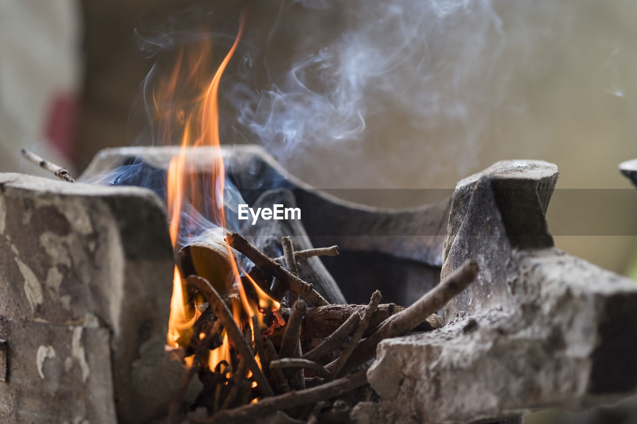 burning, fire, heat - temperature, fire - natural phenomenon, flame, motion, log, wood, glowing, firewood, smoke - physical structure, wood - material, nature, long exposure, close-up, no people, blurred motion, bonfire, orange color, fireplace, campfire