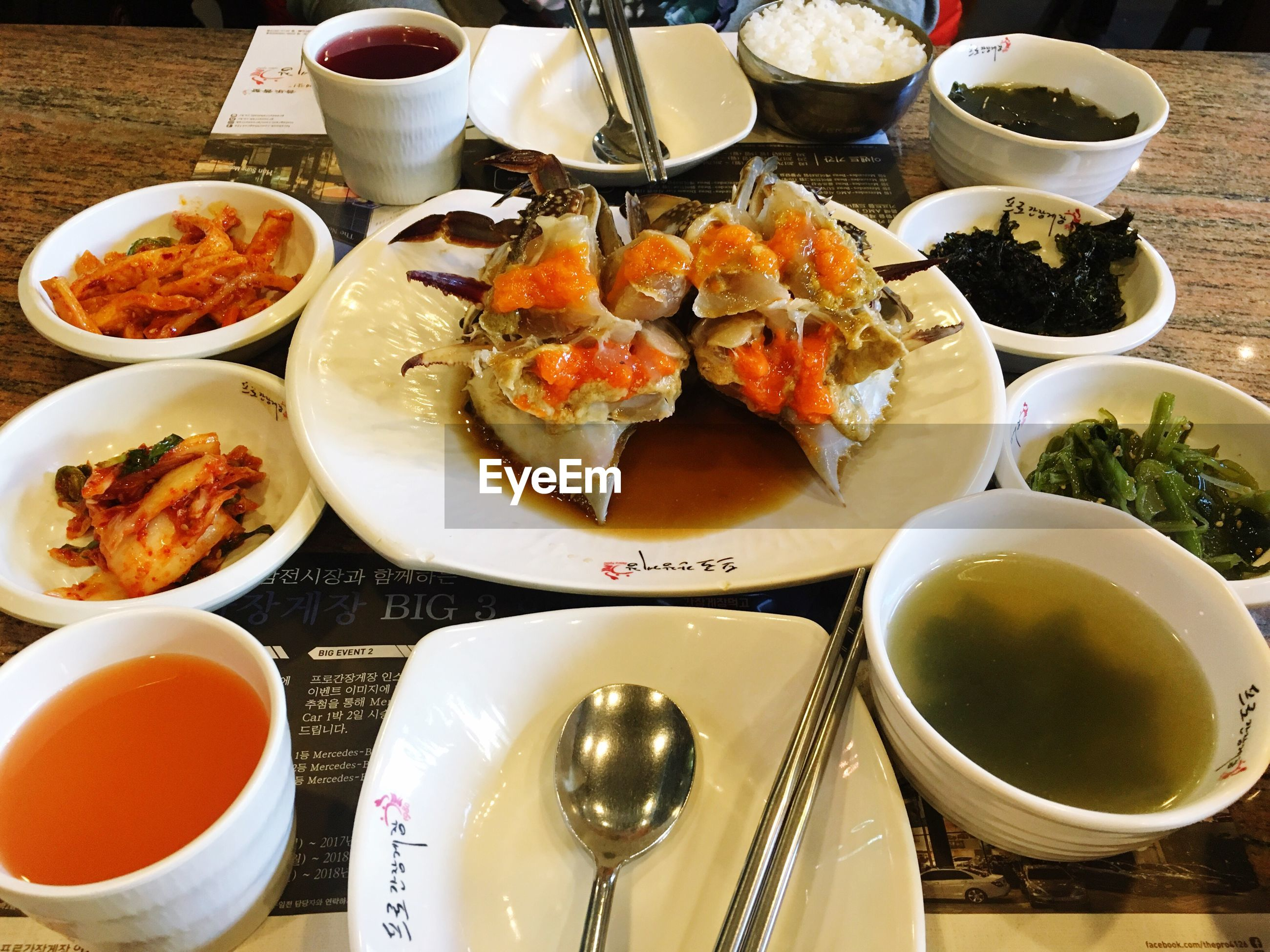 food and drink, food, plate, freshness, table, still life, variation, indoors, ready-to-eat, healthy eating, seafood, serving size, no people, bowl, high angle view, day, close-up