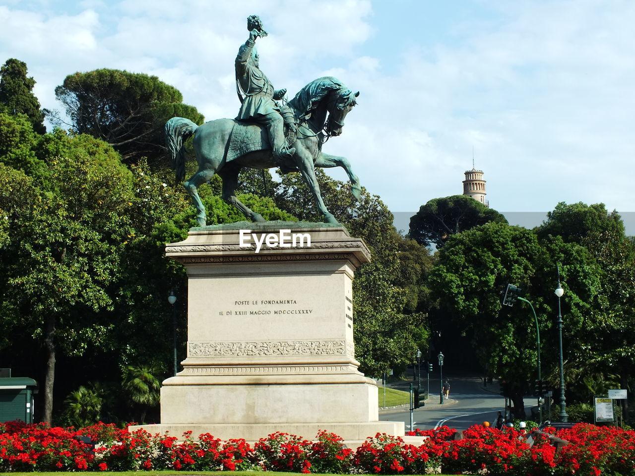 Equestrian statue of king victor emanuel in piazza corvetto