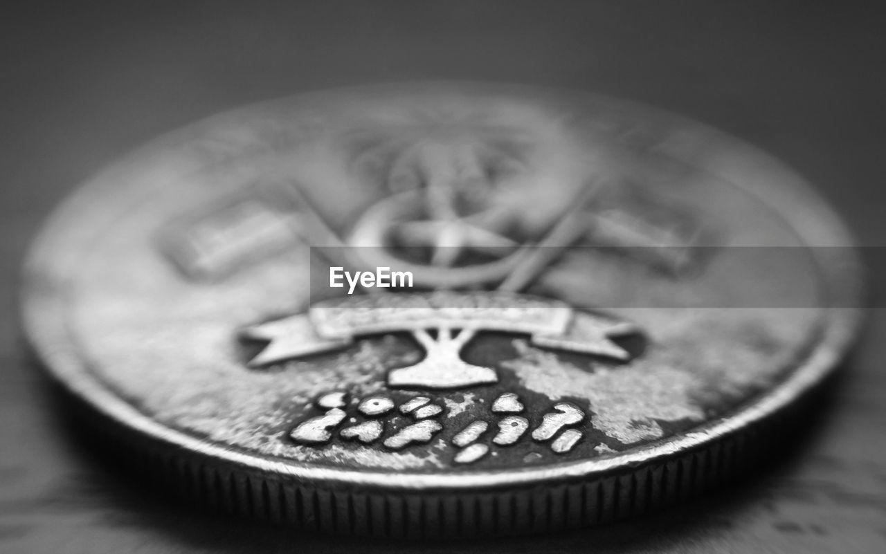 Close-Up Of Maldives Coin